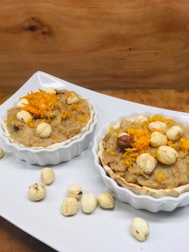 Birnen Pastinaken Tartelettes mit Haselnüssen