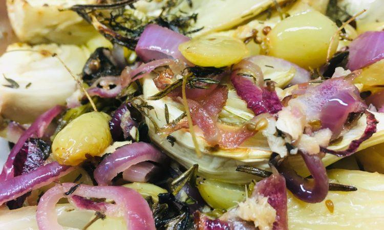 Gerösteter Fenchel mit Trauben