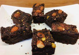 Bohnen Brownies mit Orangen und Chili
