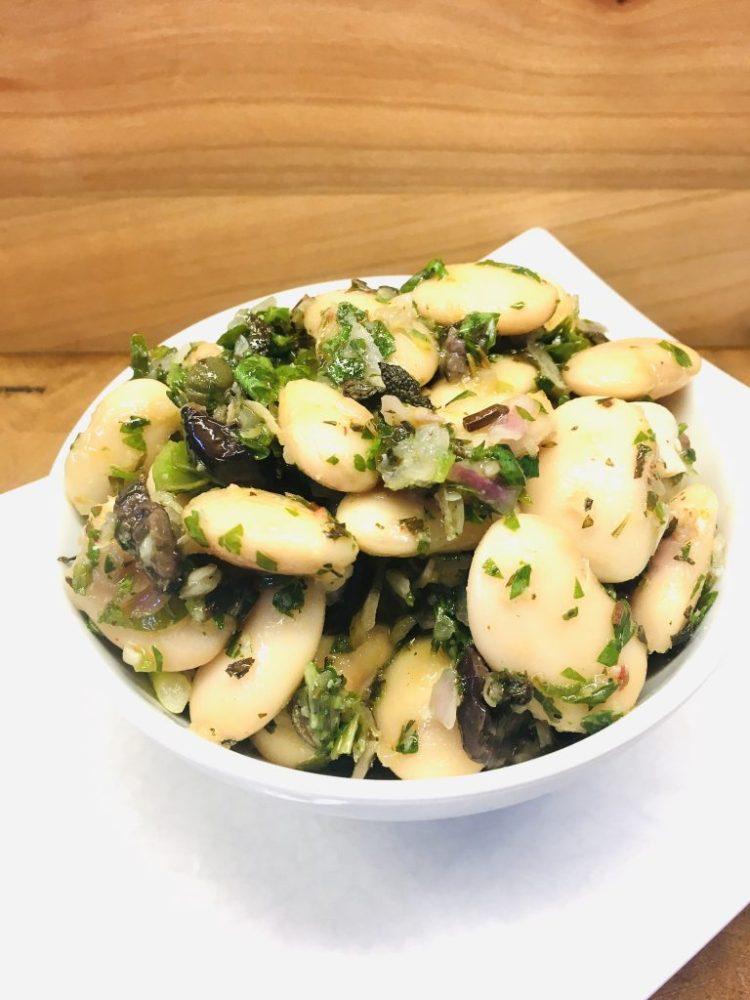 Gigantes - Riesenbohnen Salat mit Oliven und Kapern