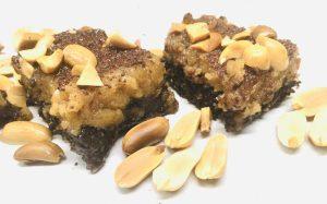 Erdnussbutter Karamell Freezer Brownies