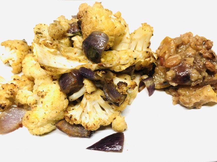 Gerösteter Blumenkohl mit Birnen Chutney