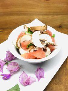 Champignon-Grapefruit Salat