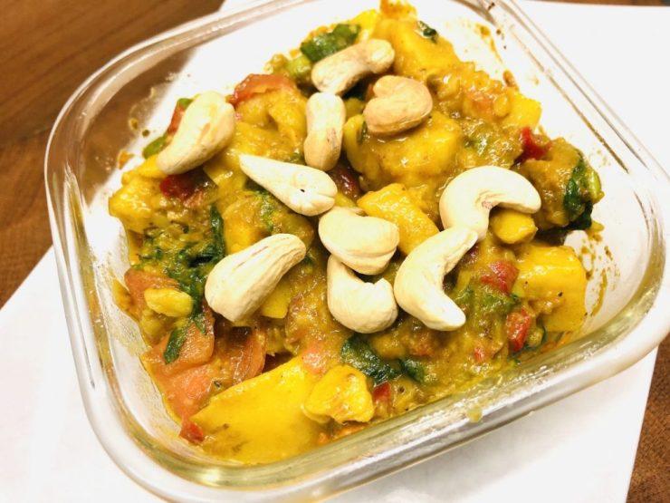 Kartoffelsalat mit Mango Chutney Vinaigrette