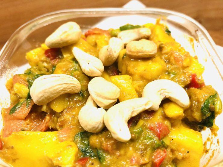 Kartoffelsalat mit Mango Chutney