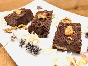 Schwarze Bohnen Walnuss Brownies mit Chili