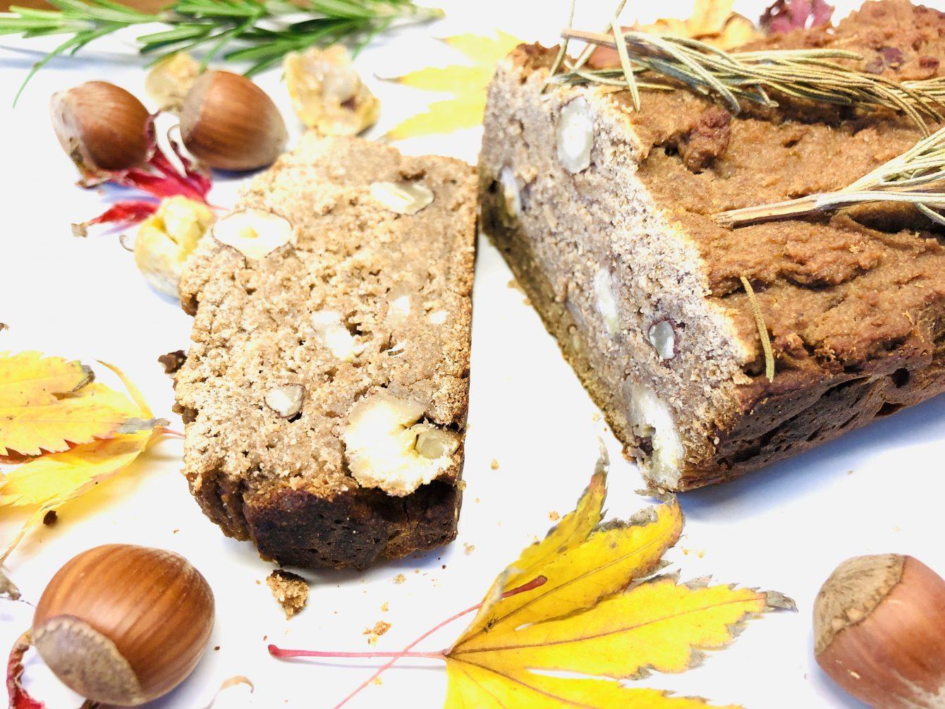 Kastanien Brot mit Maronen, Haselnüssen und Rosmarin [glutenfrei]