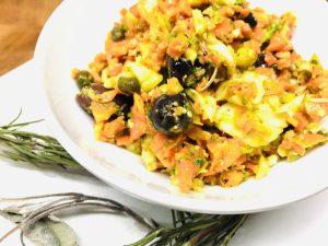 Karotten Fenchel Salat mit Orangen Tahini Dressing