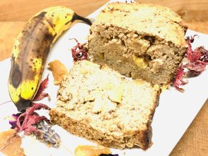 Bananen Brot mit kandiertem Ingwer
