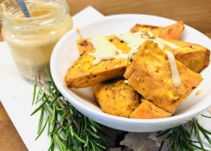 Süßkartoffeln mit Tahini Dip