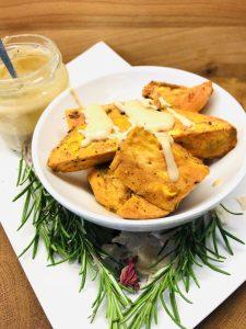Süßkartoffel mit Tahini Dip