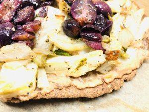 Pizza Bianca mit Fenchel und Trauben