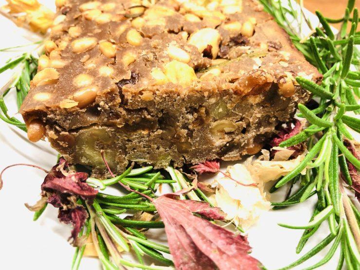 Kastanien Kuchen Castagnaccio