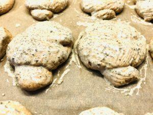 Knoblauch Knoten Brötchen