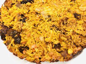 Crispy Reis mit Tomaten und Cashews