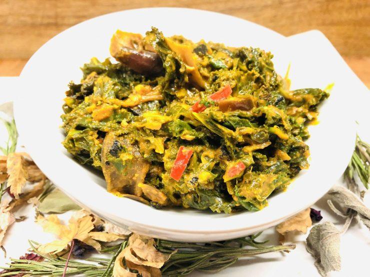 Äthiopischer Erdnuss Grünkohl