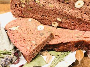 Rote Bete Haselnuss Brot
