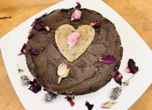 No Bake Schoko Kirsch Brownie Torte