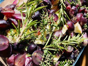Gerösteter Fenchel mit Trauben und Pastinaken