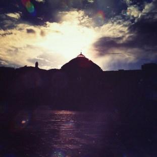 Piazza Plebiscito al tramonto