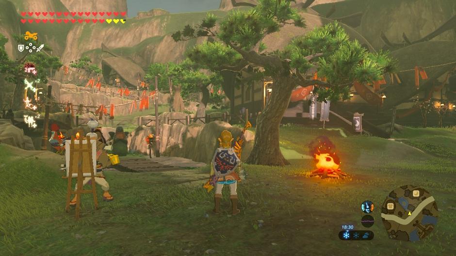 UI Zelda Breath of the Wild Interface
