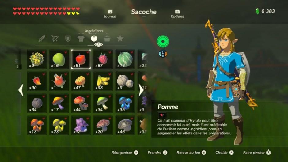 Zelda BotW Menu