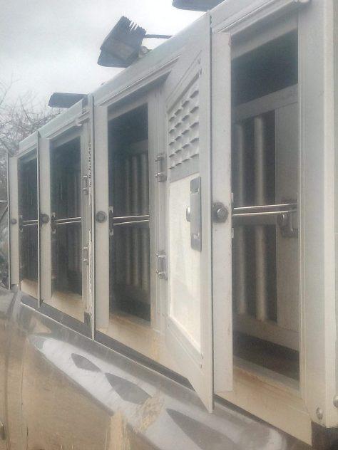 Caisse isolée pour le transport de chiens