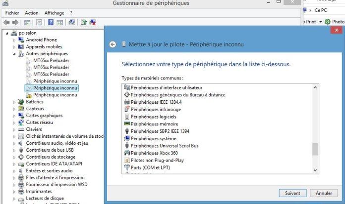 Périphérique MTP Android non reconnu dans Windows - Lecoindunet