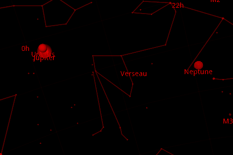 mode nuit  google sky map Android