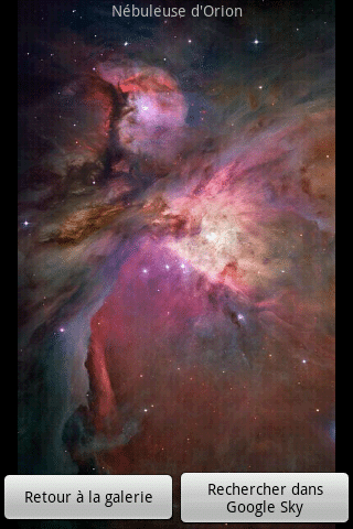 nebuleuse galerie google sky map Android