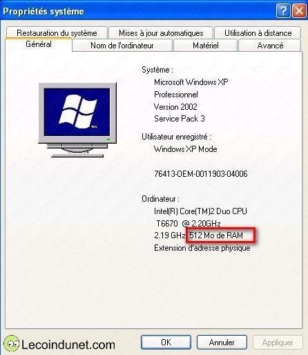 exemple windows xp