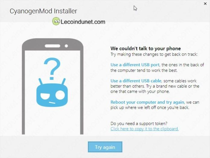 CyanogenMod Installer usb problem