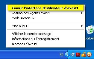 Désactiver les voix et messages parlants dans Avast