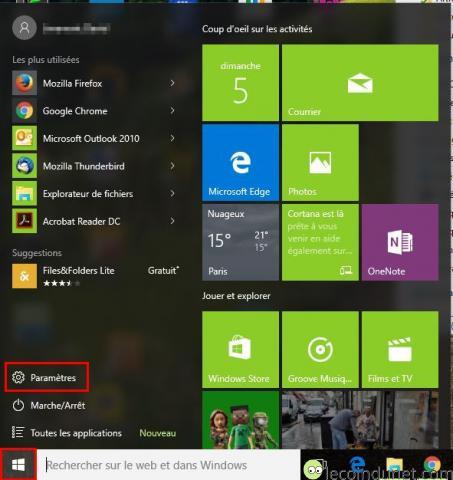 Windows 10 - Paramètres