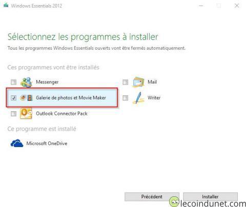 Windows Essential 2012 - Sélection Movie Maker