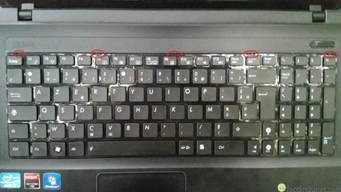 Asus - Encoches clavier