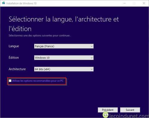 Windows 10 - MediaCreationTool options