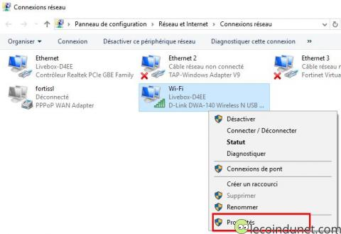 Windows 10 - Connexions réseaux