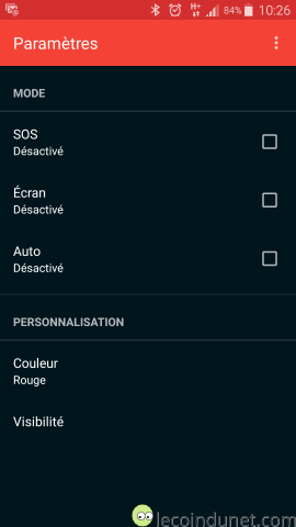 Torch sur Android