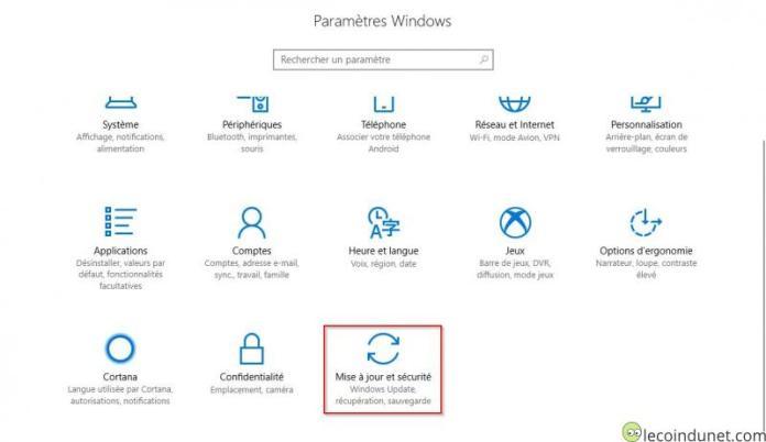 Windows 10 - Paramètres Windows