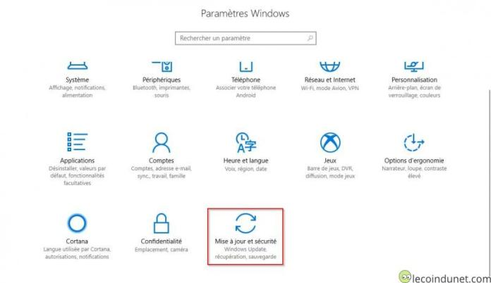 Windows 10 - Paramètres Windows