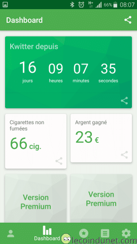 Application Kwit sur Android