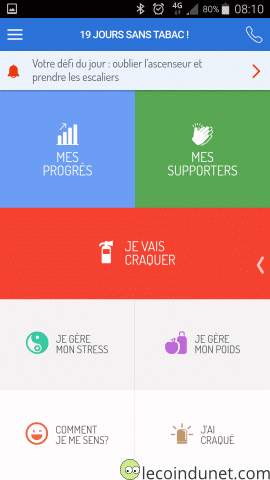 Application Tabac Info Service sur Android