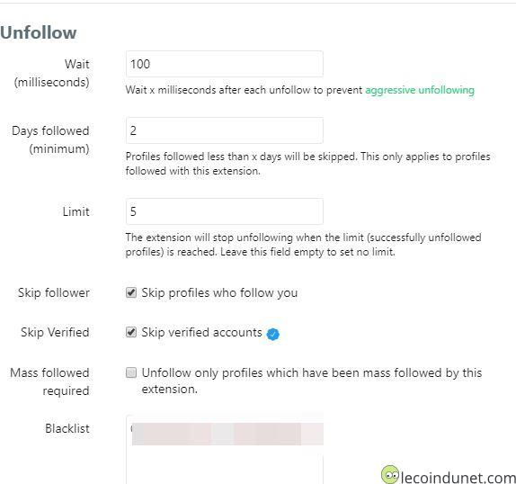 Twitter - Mass follow for twitter unfollow settings