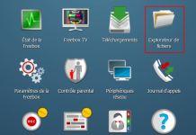 Freebox OS - Explorateur de fichiers