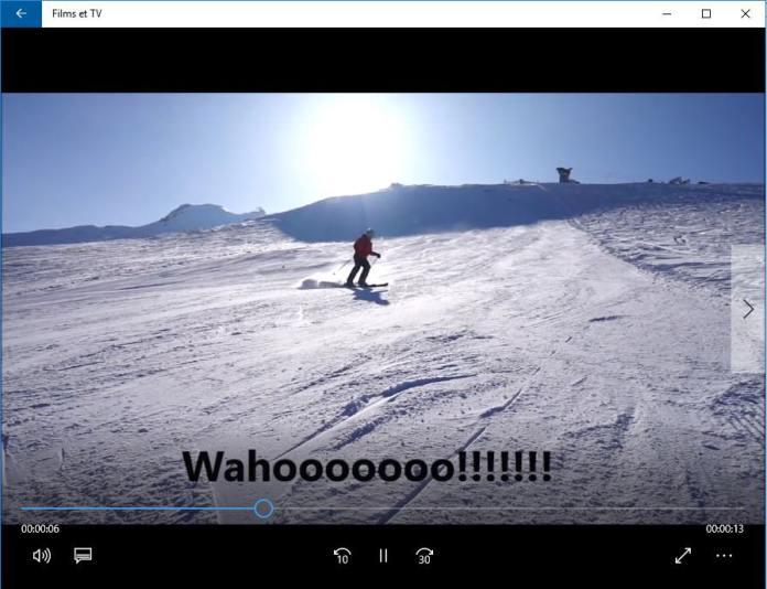 Movie Maker - Exemple texte sur vidéo