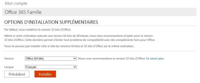 office365 - version 64 bits