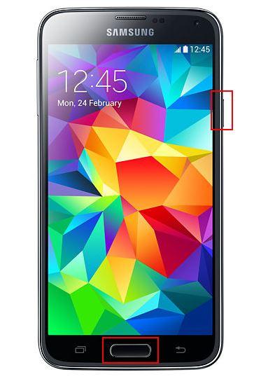 Samsung Galaxy S5 - Bouton Home + Deverrouilage