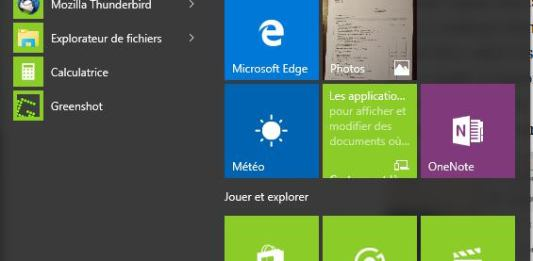 Windows 10 - Menu démarrer