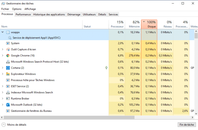 Qu'est ce que le processus wsappx dans Windows ?